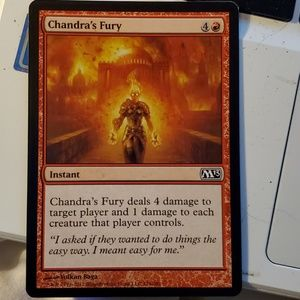 Chandra's fury magic card
